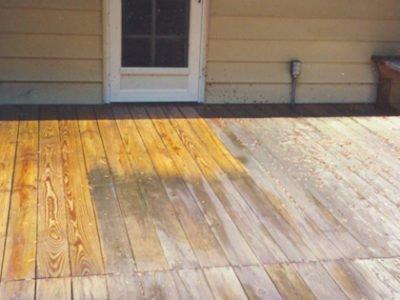 Deck Stripping Lake Norman NC